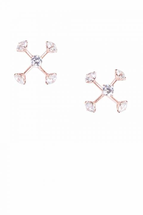 Aliana Rose Gold Earring
