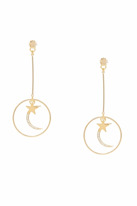Cassi Gold Star Ear Jacket
