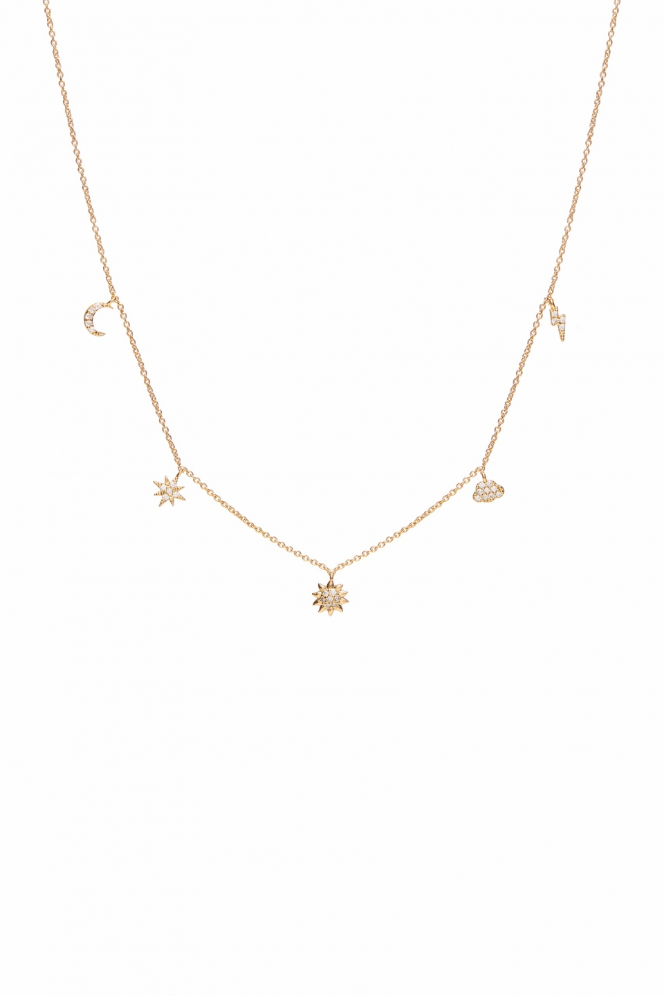 Lish Gold Charm Necklace