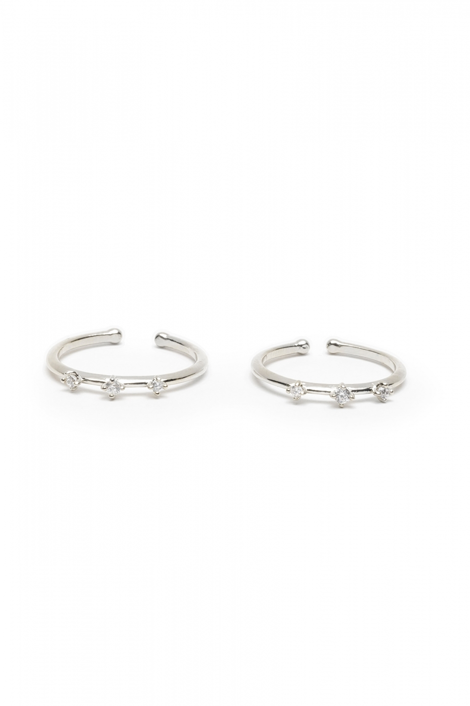 Jaimy Silver Ring Duo