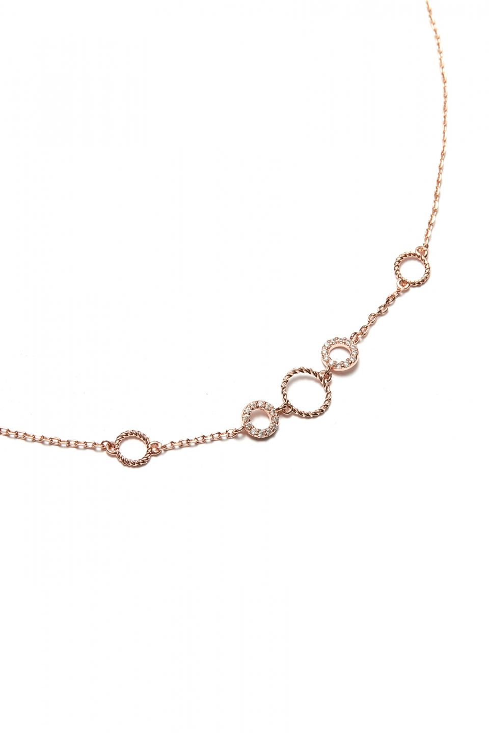 pendant missguided anklet charm rose gold