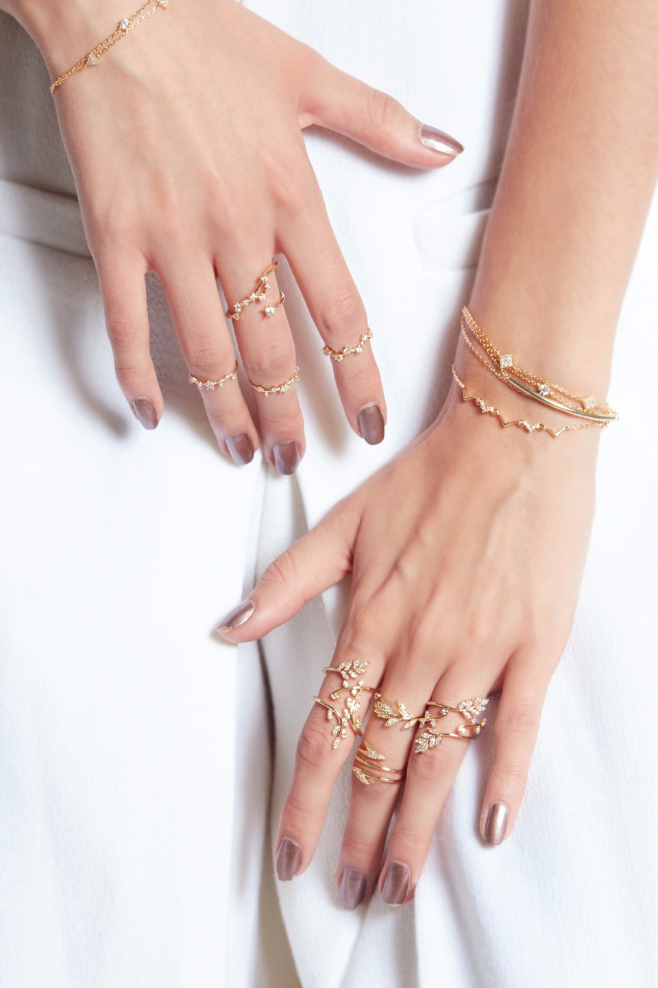 Cindy Gold Ring Duo