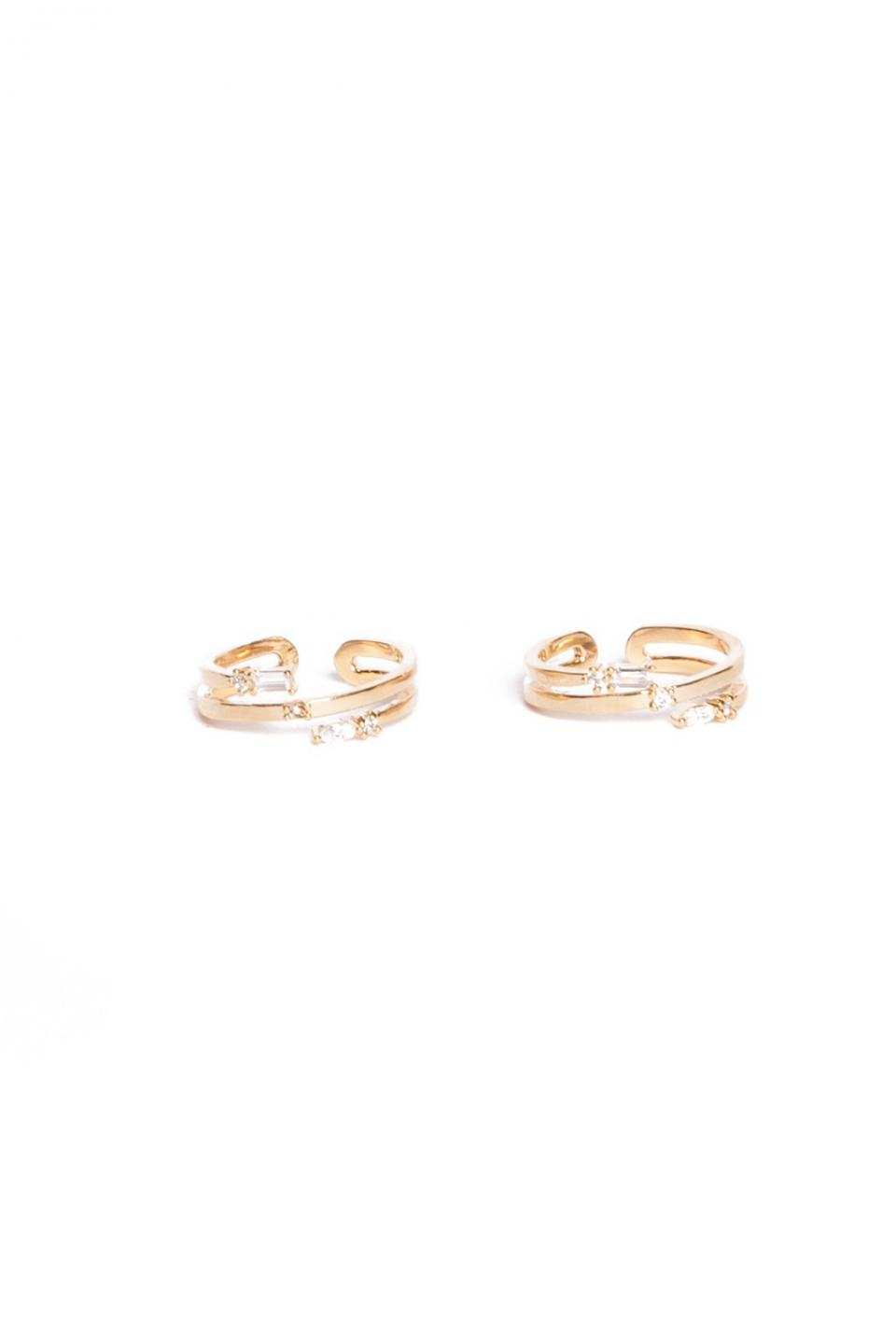 Esther Gold Midi Ring Duo