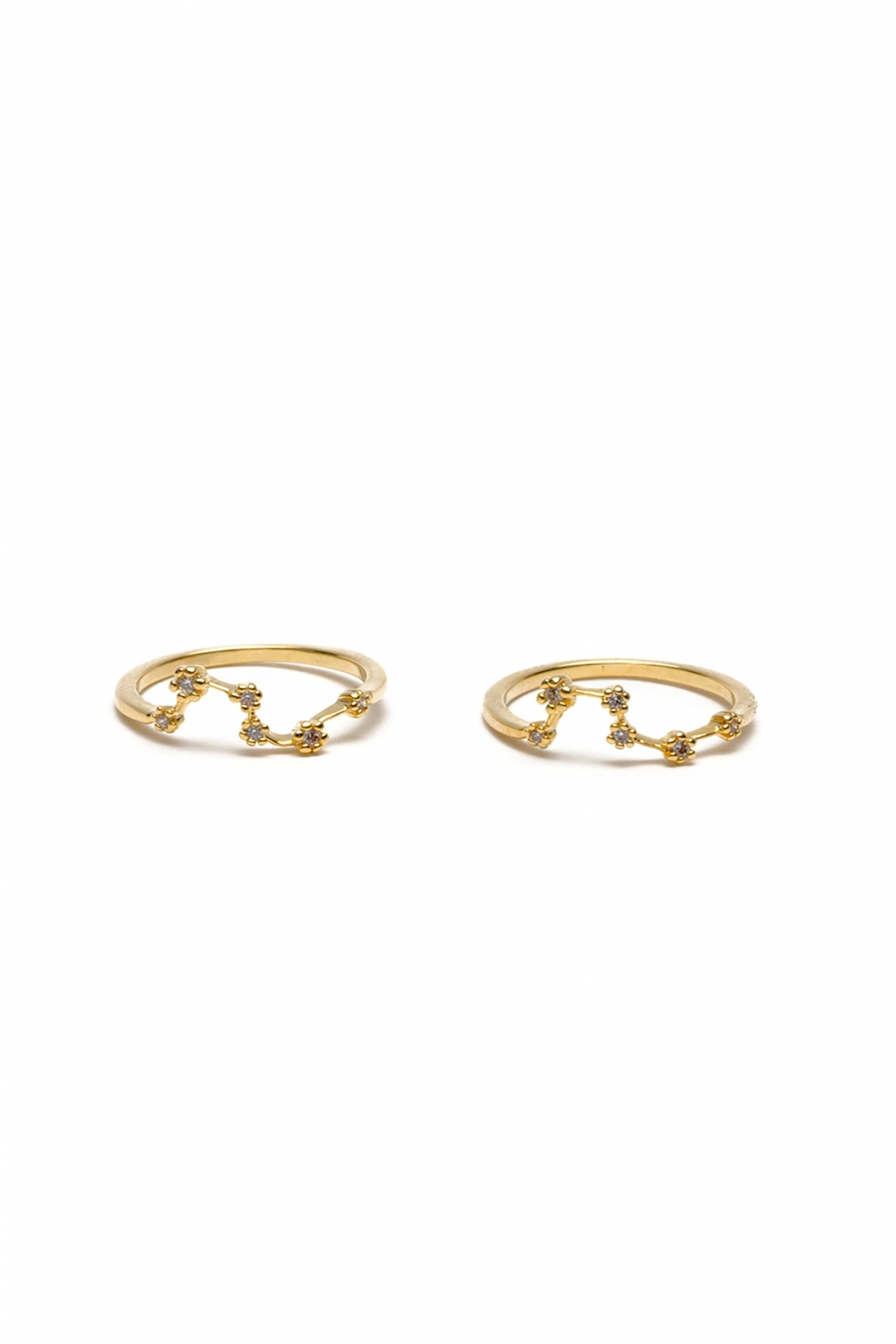 Abrion Gold Midi Ring Duo
